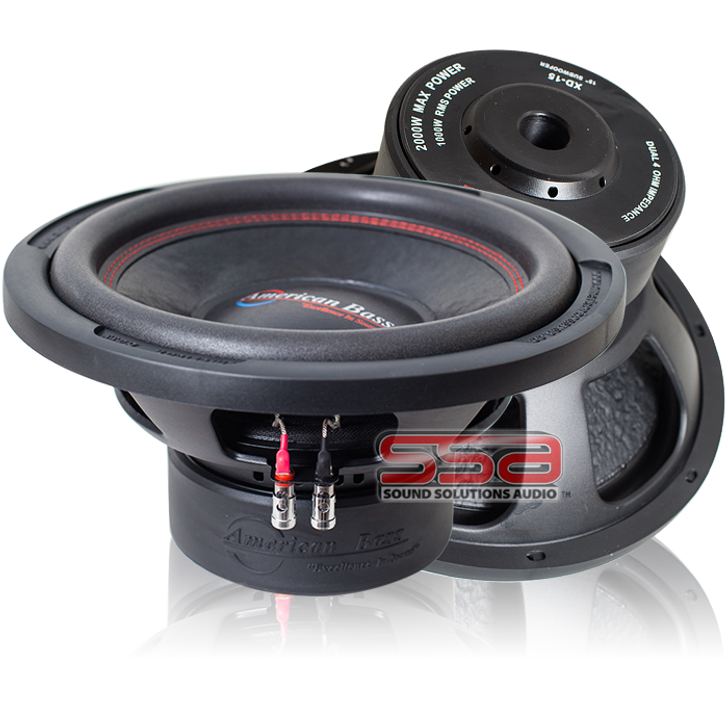 American Bass XD 1244 12 Inch 500w RMS DVC 4 Ohm Subwoofer