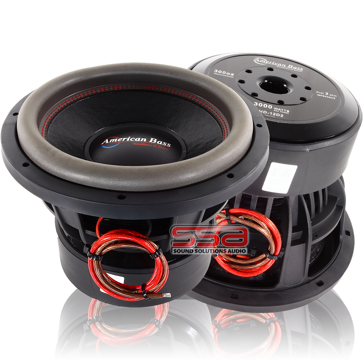 American Bass HD 10 Inch 2000w RMS DVC Subwoofer