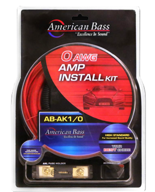 AMERICAN BASS 0 AWG CCA AMP KIT
