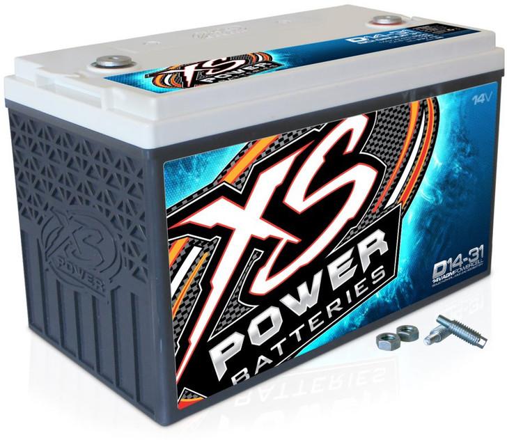 XS Power D14-31 14V BCI Group 31 AGM Battery, Max Amaps 5,000A  CA: 1,100A  Ah: 86
