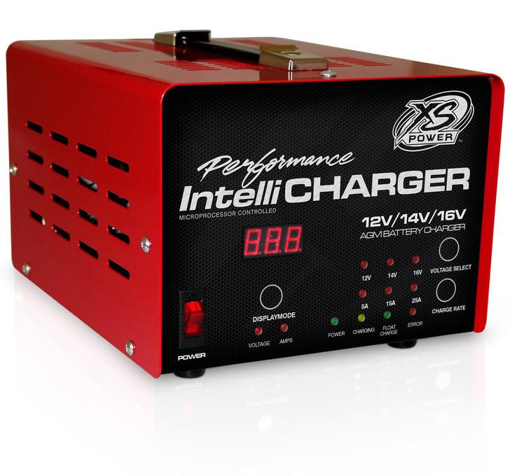 XS Power 1005-E 12/16V Battery IntelliCharger, 5A, 15A, 25A, 110/220V Input