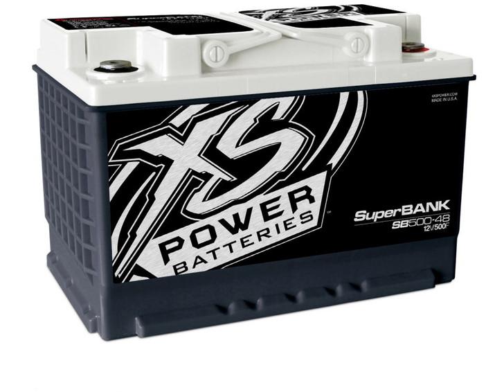 XS Power 12V Super Capacitor Bank, Group 48, Max Power 4,000W, 500 Farad