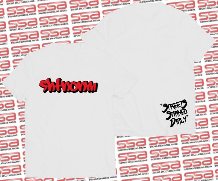 SHTNONM - Shadow Tee   White / Red