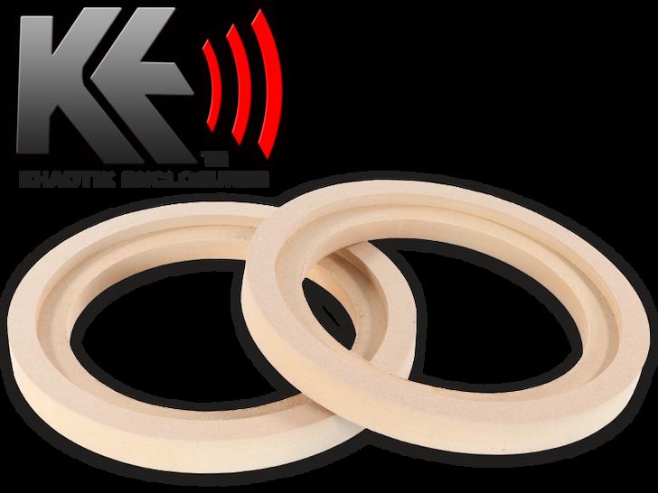 """6.5"""" MDF Recessed Speaker Ring (Pair)"""