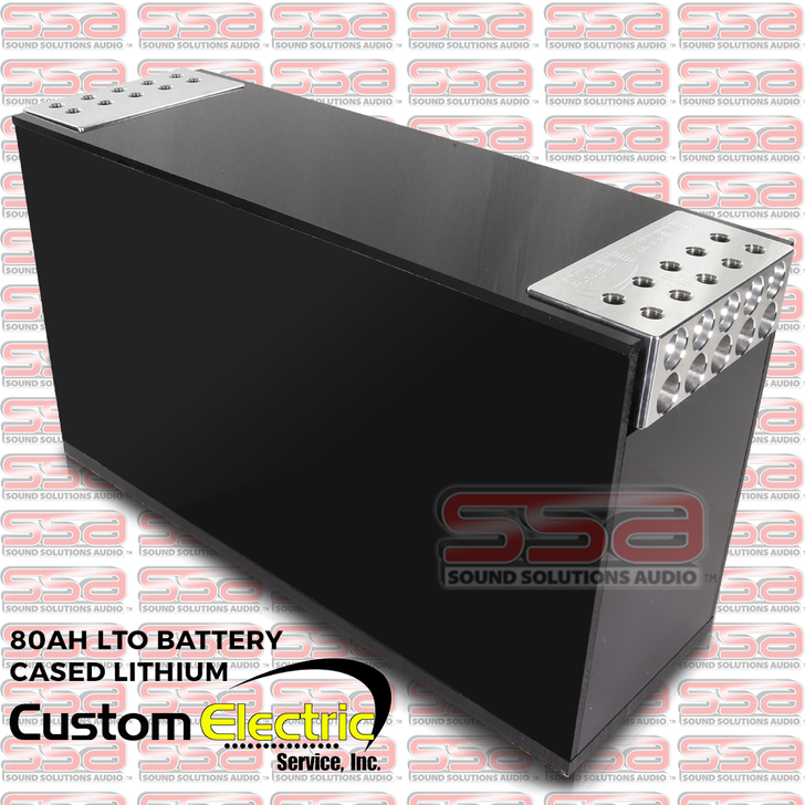 CES (Custom Electric Service) 80AH LTO BATTERY CASED LITHIUM 10 SPOT TERMINALS ACTIVELY BALANCED