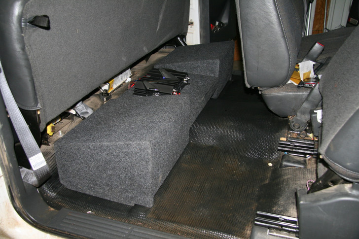 DUAL SUB BOX Amp Rack 1999-2006 CHEVY EXTENDED CAB