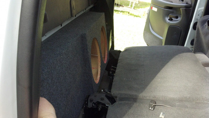 Dual Sub Box (behind rear seat) 2001-2006 SILVERADO CREW HD