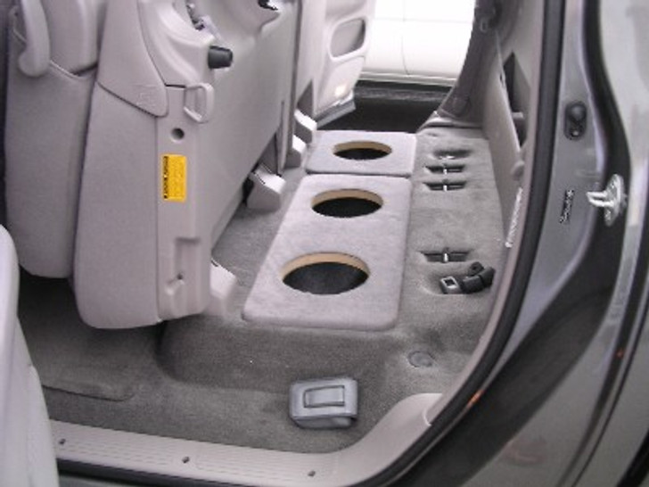 2004-2006 TOYOTA TUNDRA CREW and DOUBLE CAB TRUCK dual 8 subwoofer baffle