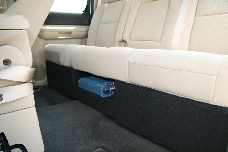 DUAL Sub Box w/AMP RACK 2007-2013 GM SIERRA CREW