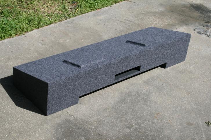 PORTED Dual Sub box 2007-2014 GM SIERRA CREW DUAL SUB BOX