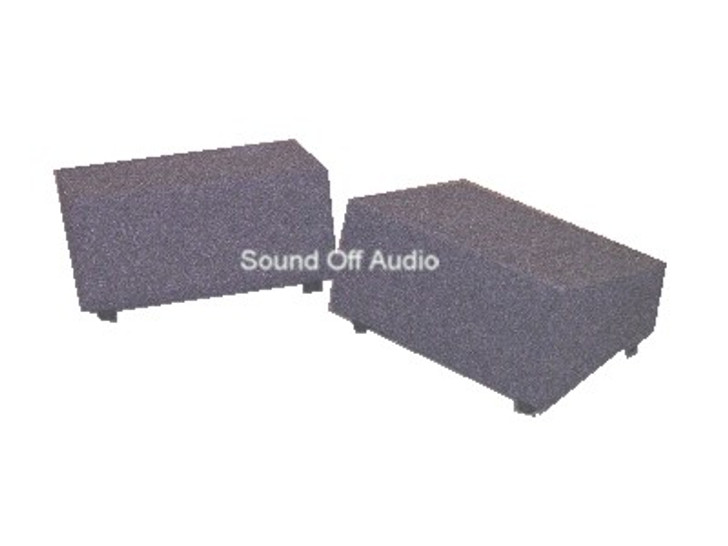 Pair of Single Sub Boxes 1999-2006 GM SIERRA EXTENDED CAB