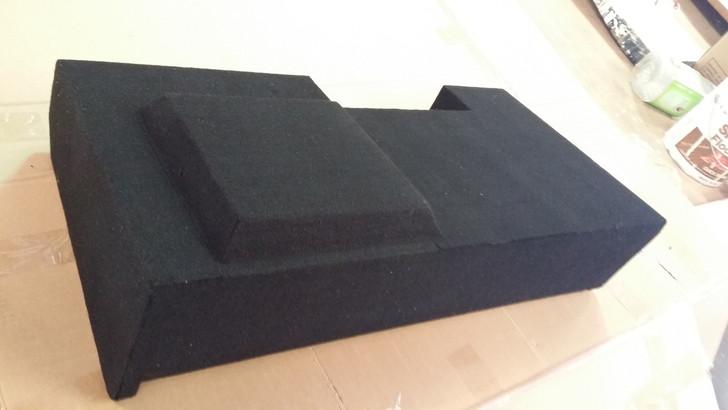 Single DEEP Sub Box-Passenger for 2014 Chevy Silverado 1500 Crew