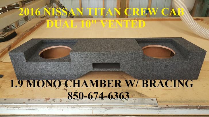"2016-Up Nissan Titan Crew Cab Dual 10"" Ported"