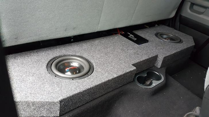 Dodge 02-18 Quad/Crew Cab Subwoofer Box with recessed baffle.