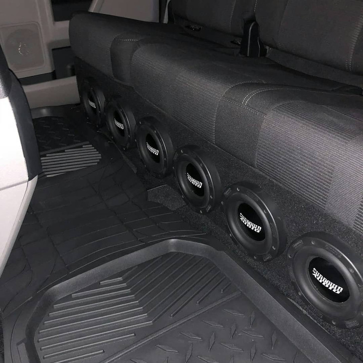 """F150 SUPERCREW 09-18 PORTED ENCLOSURE FOR (6) 6.5"""" SUBWOOFERS"""