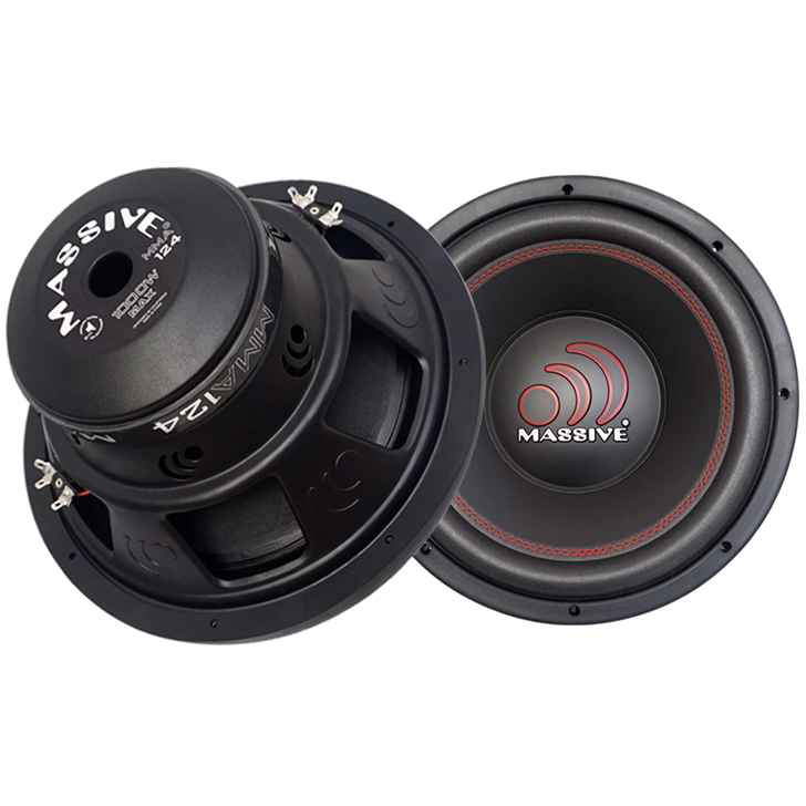 """MMA124 - 12"""" Dual 4 Ohm 500w MMA Series Subwoofer by Massive Audio®"""