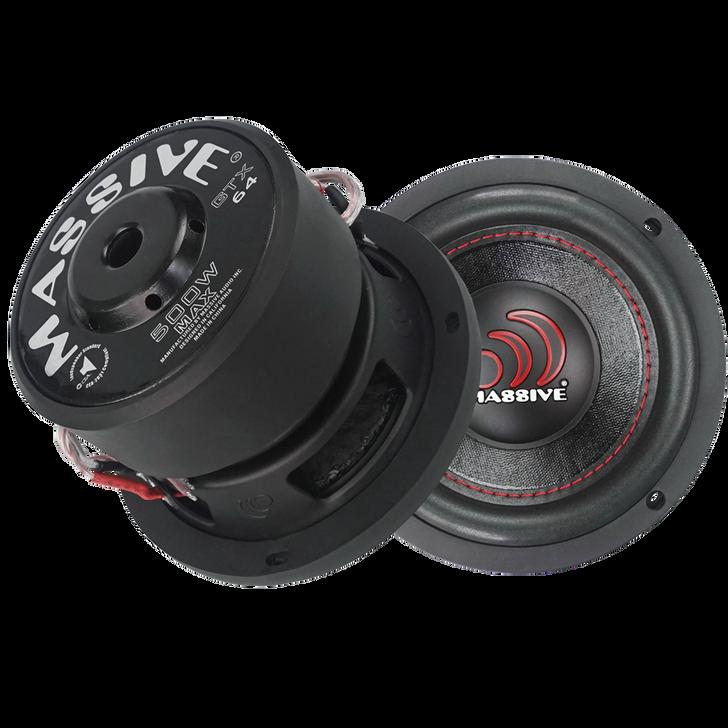 "GTX64  -6"" 250w Dual 4 Ohm GTX Series Subwoofer by Massive Audio®"