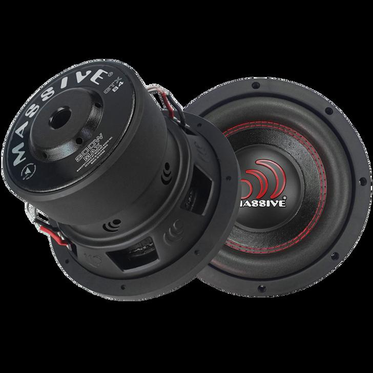 "GTX84  - 8"" 400w Dual 4 Ohm GTX Series Subwoofer by Massive Audio®"