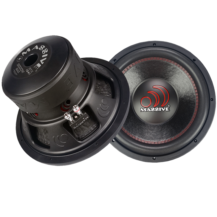 "GTX124R  - 12"" 1000w GTX Series Subwoofer by Massive Audio®"