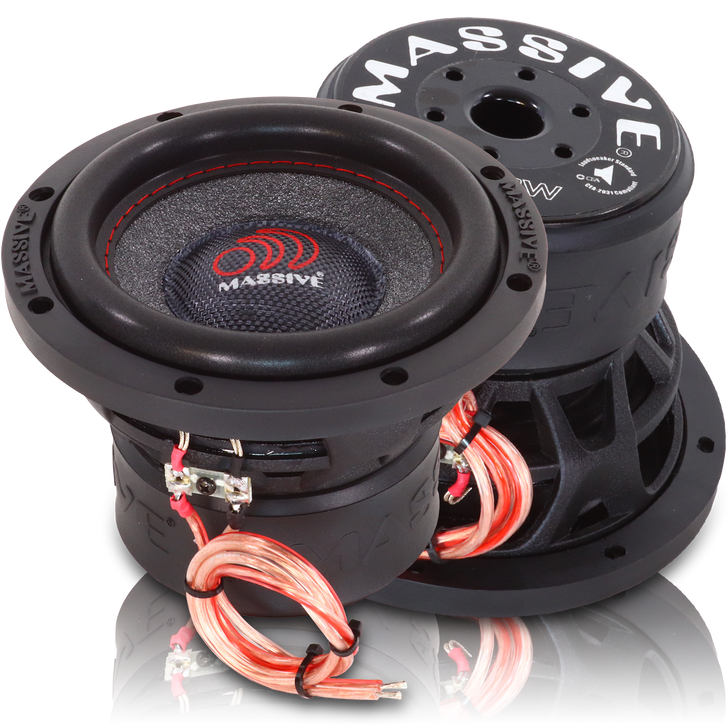 """SUMMO64XL  - 6"""" 150w Single 4 Ohm Summo Series Subwoofer by Massive Audio®"""