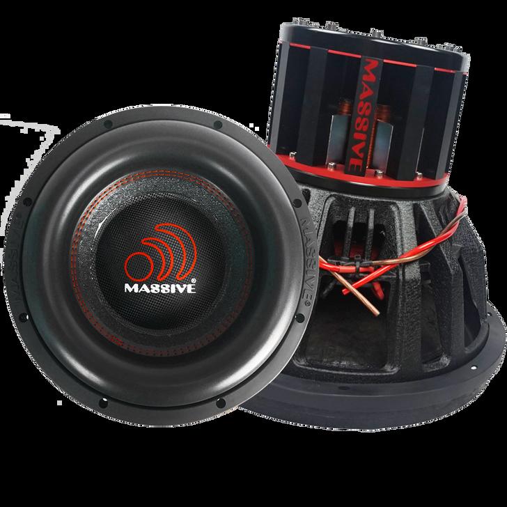 """BOA121-N - 12"""" NEO 6,000w Dual 1 Ohm BOA Series Mega Subwoofer by Massive Audio®"""