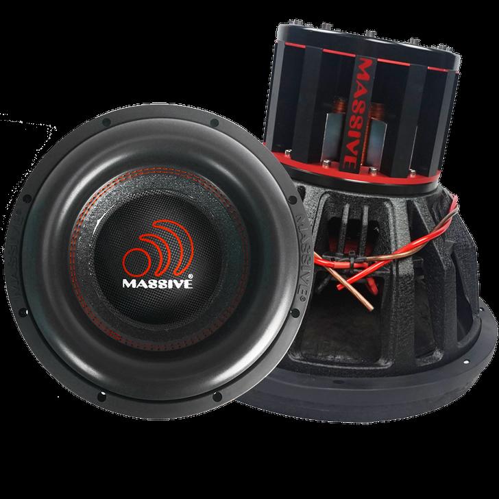 """BOA151-N - 12"""" NEO 6,000w Dual 1 Ohm BOA Series Mega Subwoofer by Massive Audio®"""