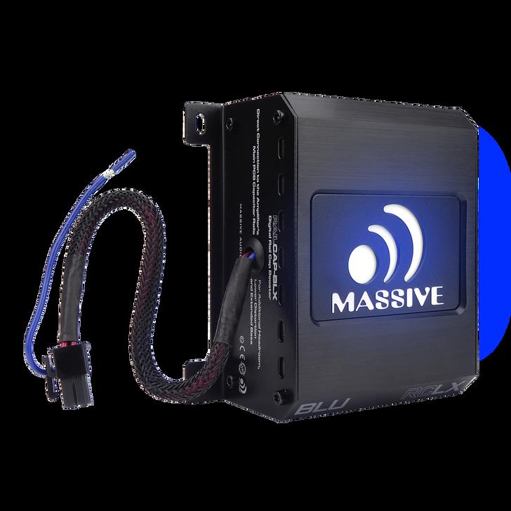 RAILCAP BLX - NANO BLUE SERIES 4 FARAD MOLEX LIGHTNING CAPACITOR by Massive Audio®