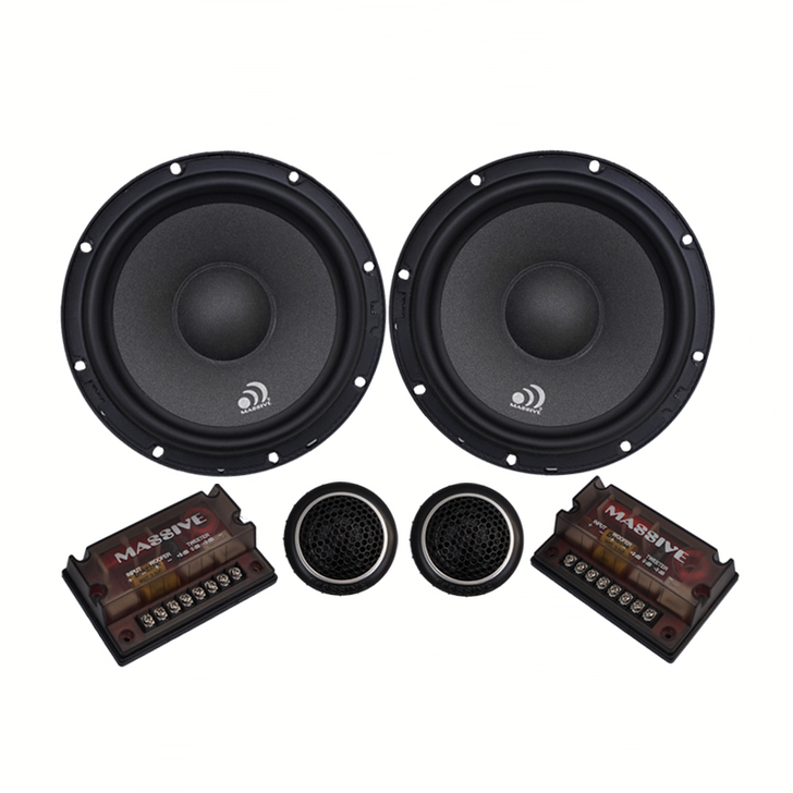 """ZK6 - 6.5"""" 200 WATTS RMS COMPONENT KIT SPEAKERS by Massive Audio®"""