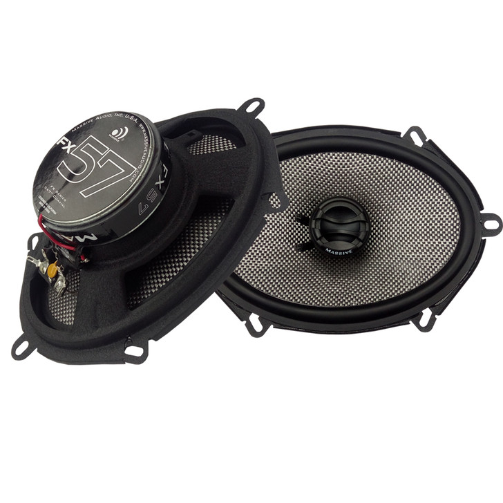 """FX57 - 5""""X7"""" 2-WAY 70 WATTS RMS COAXIAL SPEAKERS by Massive Audio®"""