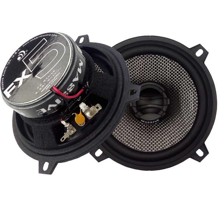 """FX5 - 5.25"""" 2-WAY 60 WATTS RMS COAXIAL SPEAKERS by Massive Audio®"""