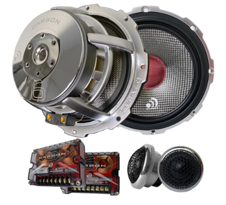 """CARBON 6 - 6.5"""" 280 WATTS RMS COMPONENT KIT SPEAKERS by Massive Audio®"""