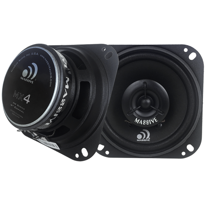 """MX4 - 4"""" 2-WAY 40 WATTS RMS COAXIAL SPEAKERS by Massive Audio®"""