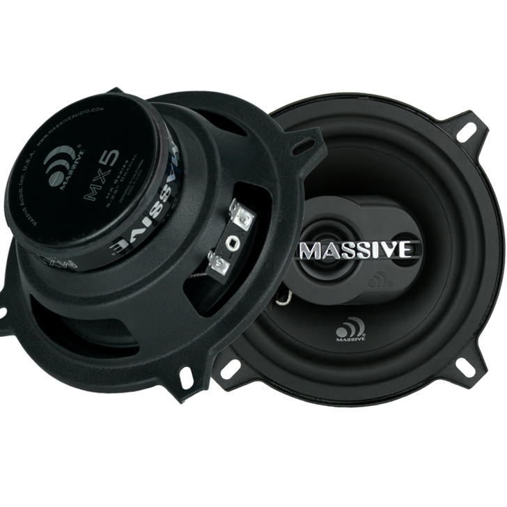 """MX5 - 5.25"""" 2-WAY 40 WATTS RMS COAXIAL SPEAKERS by Massive Audio®"""