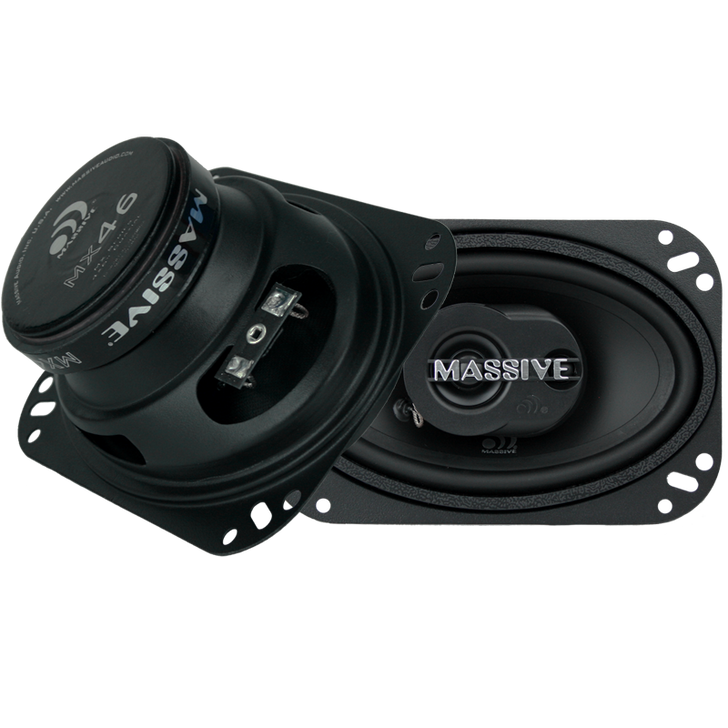 """MX46 - 4""""X6"""" 2-WAY 40 WATTS RMS COAXIAL SPEAKERS by Massive Audio®"""