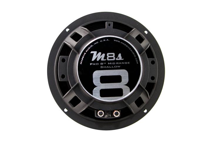 "M8S - 8"" 140 WATT 4 OHM MID-RANGE SHALLOW MOUNT SPEAKER by Massive Audio®"