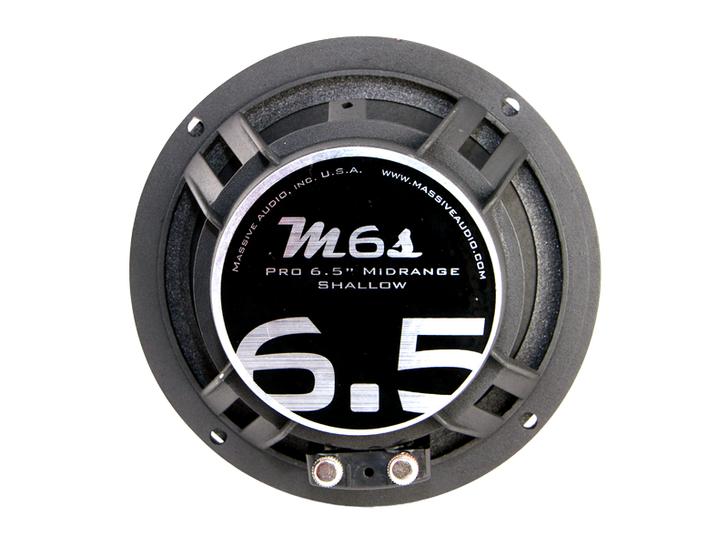 "M6S - 6.5"" 130 WATT 4 OHM MID-RANGE SHALLOW MOUNT SPEAKER by Massive Audio®"