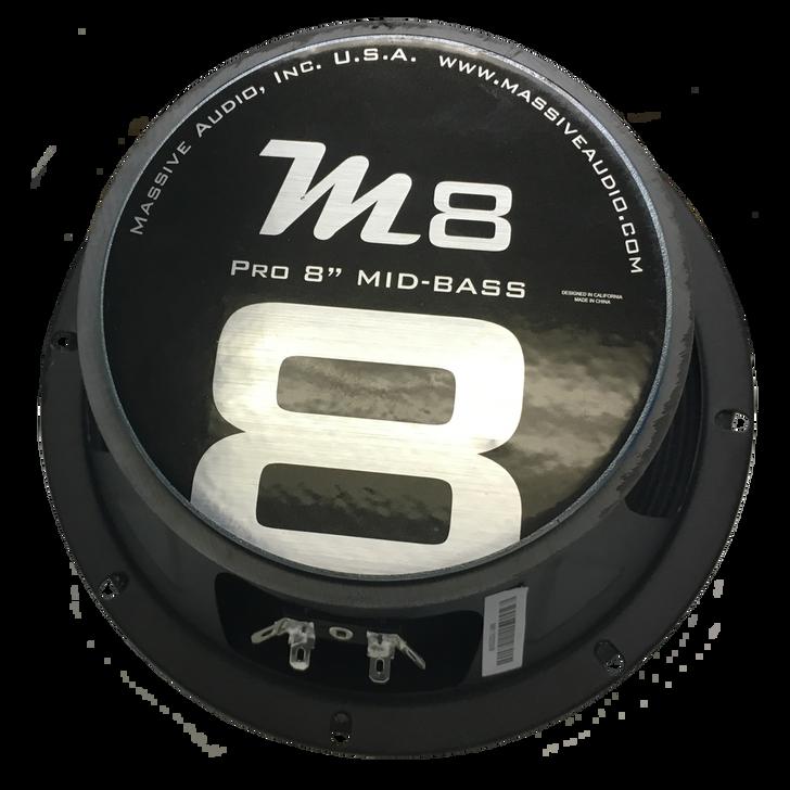"M8 - 8"" 150 WATT 8 OHM MID-RANGE SPEAKER (HIGHER SQ FREQUENCIES) by Massive Audio®"