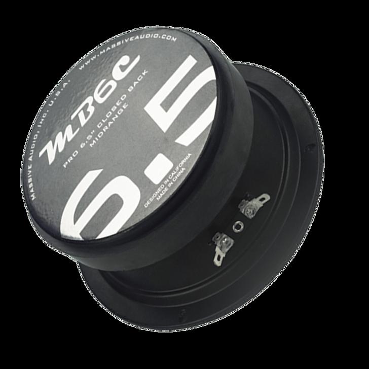 "MB6C - 6.5"" 150 WATT 4 OHM MID-RANGE CLOSED BACK SPEAKER by Massive Audio®"