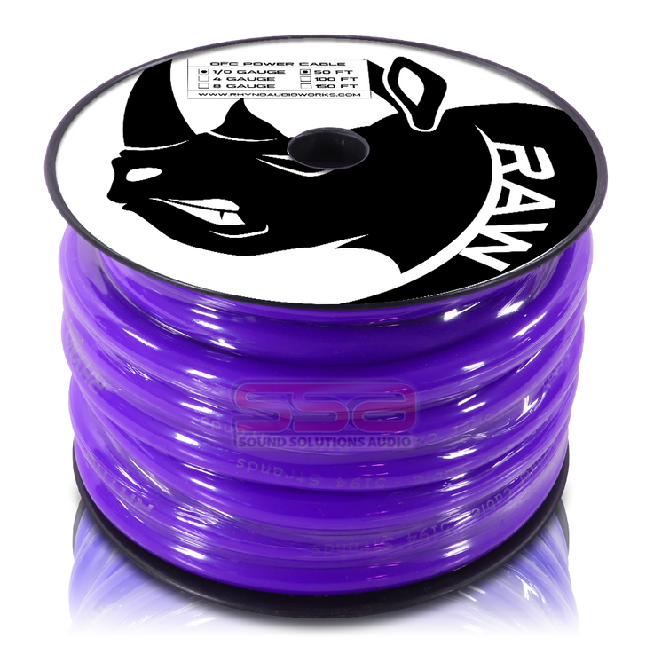 RHYNO 1/0 AWG By The Foot Twisted OFC Power Cable