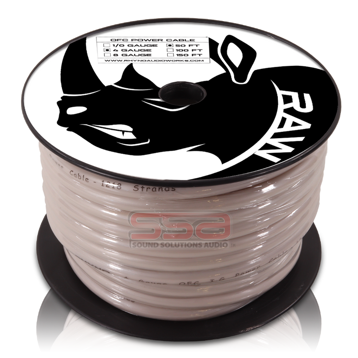 RHYNO 4 AWG By The Foot Twisted OFC Power Cable