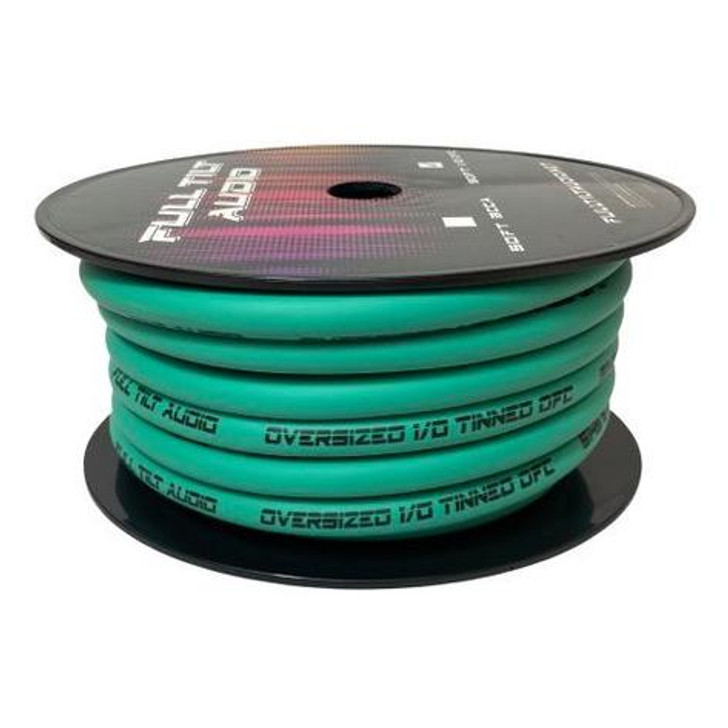 Full Tilt 1/0 Teal 50' Tinned OFC Oxygen Free Copper Power/Ground Cable/Wire