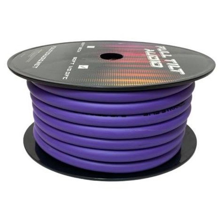 Full Tilt 1/0 Purple 50' Tinned OFC Oxygen Free Copper Power/Ground Cable/Wire