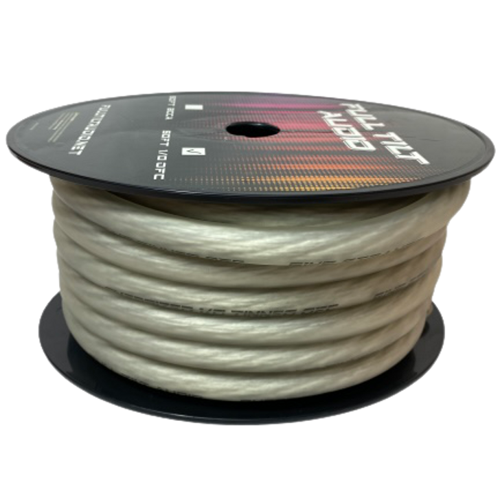 Full Tilt 1/0 Clear50' Tinned OFC Oxygen Free Copper Power/Ground Cable/Wire