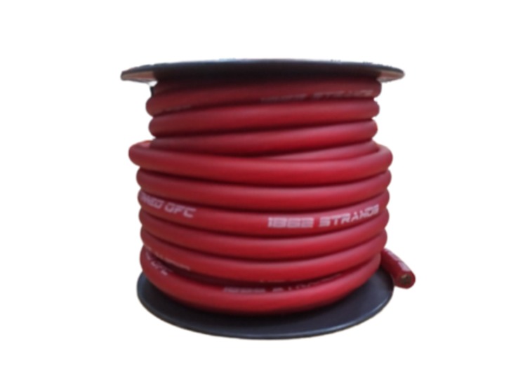 Full Tilt 4 Gauge Red 50' Tinned OFC Oxygen Free Copper Power/Ground Cable/Wire