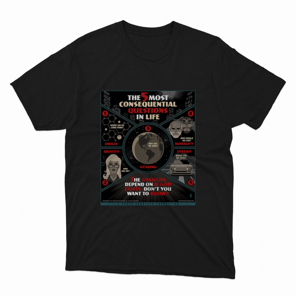 The 5 Most Consequential Questions T-Shirt (men's)