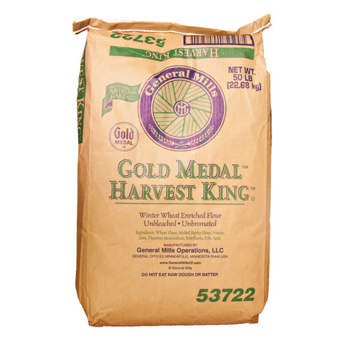 Harvest King Enriched Ubleached Flour 50lb
