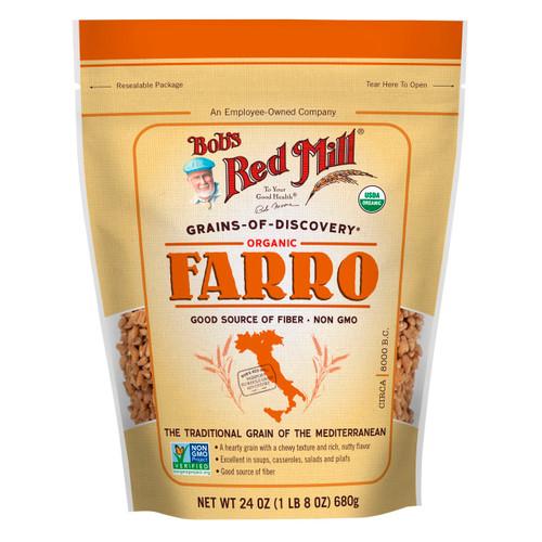 Organic Farro Grain 4/24oz