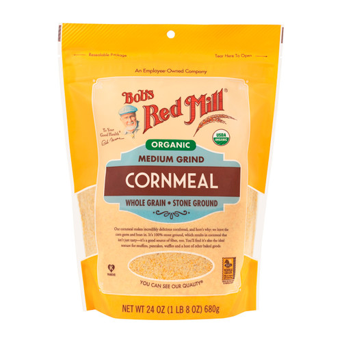 Organic Medium Cornmeal 4/24oz