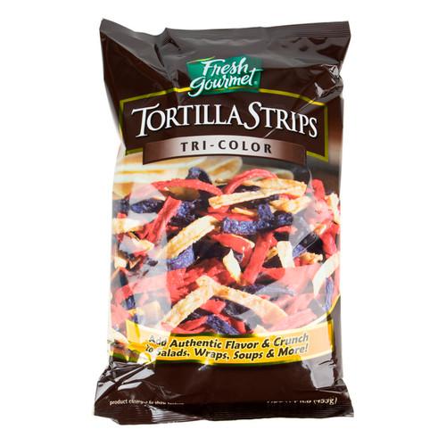 Tri-Color Tortilla Strips 10/1lb