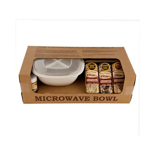 Microwave Popcorn Gift Bowl Set 1ea